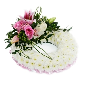 Floral Funeral Ring Wreath