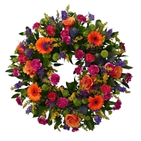 Autumnal Funeral Wreath