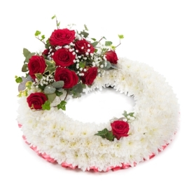 Funeral Red Rose Wreath